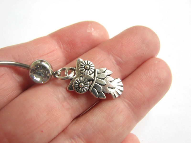 Owl, Stainless Steel Belly Rings - product images  of