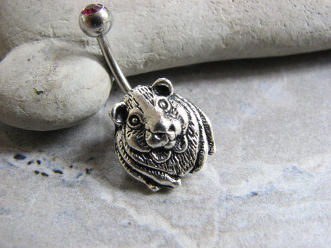 Guinea,Pig,/,Hamster,Belly,Ring,guinea pig jewelry, hamster jewelry, guinea pig belly ring, navel piercing, cute belly button rings, small animal belly button jewelry, non dangle, post belly bar, assorted colors