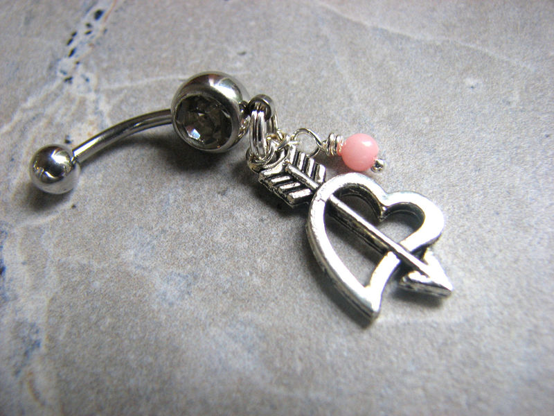 Heart and Arrow, Cupids Belly Button Ring - product images  of