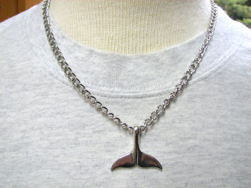 Men's Whale Tail Chain Necklace - product images  of