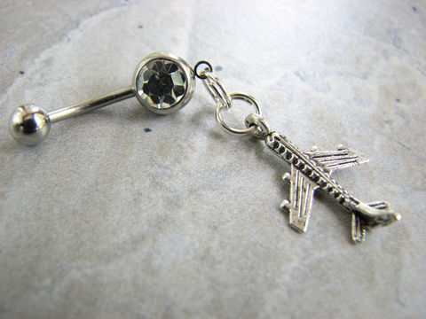 Airplane,Belly,Button,Piercing,airplane jewelry, airplane belly ring, plane belly button piercing, airplane bellybutton, jet plane jewelry, travel theme jewelry, travel theme belly button piercings, silver airplane, stainless steel, custom colors, jet jewelry, aviation jewelry, girls t