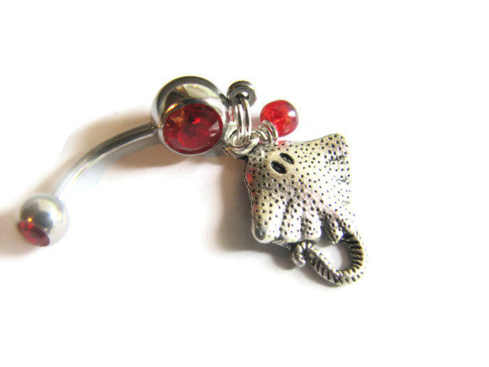 Stingray Belly Button Piercing Ring - product images  of