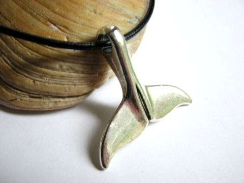 Silver,Whale,Tale,Pendant,with,Black,Leather,Necklace,beach theme necklace, whale tail necklace, whale pendant, silver whale, whale fluke necklace, fluke jewelry, leather cord, nautical jewelry, ocean jewelry, mens whale tail, whale tail jewelry, ocean theme jewelry
