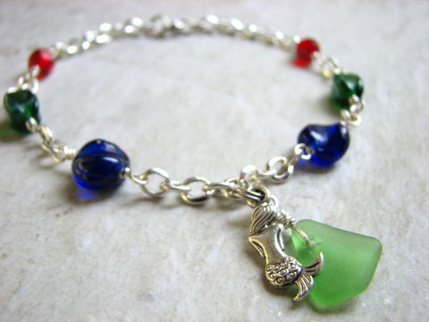 dangle sea buy online blue edited product cobalt glass anklets anklet