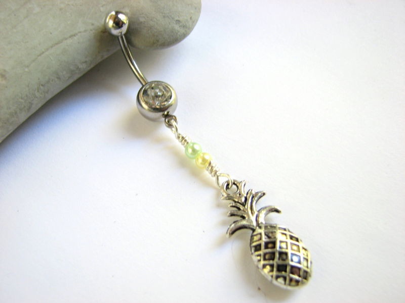 Pineapple Belly Button Ring - product images  of