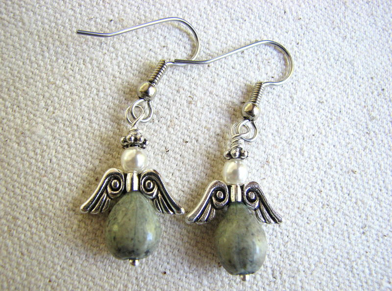 Jobs Tear Angel Earrings, Seed Jewelry - product images  of