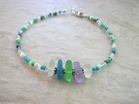 Beach,Sea,Glass,Anklet,for,Women,,Delicate,Beaded,Ocean,Jewelry,beach anklet, sea glass, seaglass, beach glass, ankle bracelet, women, delicate, dainty, tiny beads, seed beads, beaded anklet, ocean anklet, blue, green purple, white, multi color, sea colors, ankle jewelry, foot jewelry