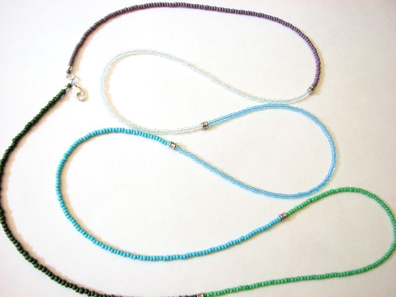 Shades of the Caribbean Long Beaded Necklace - product images  of
