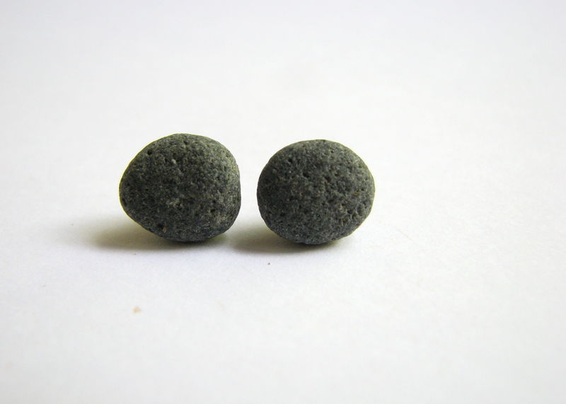 Natural Grey Beach Rock Stud Earrings  - product images  of