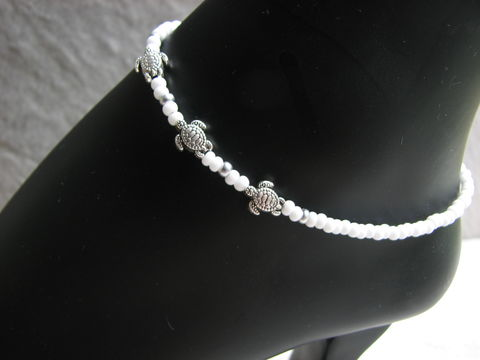 White,Bead,Sea,Turtle,Ankle,Bracelet,,Beach,Bride,Anklet,Jewelry,white anklet, bead anklet, sea turtle anklet, bridesmaid gifts, beach bride anklet, white beaded anklet, silver turtle anklet, dainty bead anklet, beach ankle bracelet, ocean ankle jewelry, minimalist ankle bracelet, silver sea turtles, custom sized ankle