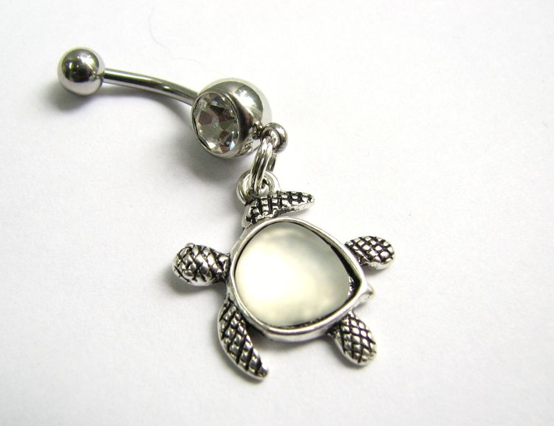 Sea Turtle Charm Belly Button Piercing - product images  of