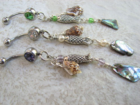 Long,Belly,Ring,Bars,,Abalone,Shell,Beach,Dangles,long belly ring, dangle belly rings, sea shell navel rings, abalone belly button rings, beach jewelry, purple belly bars, green belly bars, gypsy jewelry, belly button jewelry, ocean body jewelry, fish belly jewelry,