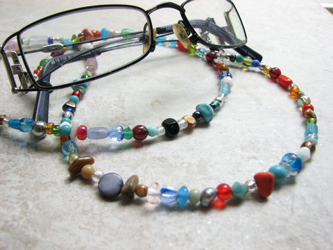 Colorful,Beaded,Eye,Glass,Chain,beaded eyeglass chain, colorful eye glass necklace, eye glass holder, sunglass chain, assorted bead glass cord, hippie bead glasses lanyard, boho eyeglass chain, designer eyeglass cord,