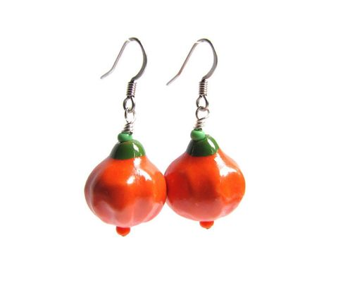 Porcelain,Pumpkin,Earrings,pumpkin earrings, pumpkin jewelry, gourd jewelry, halloween earrings, thanksgiving earrings, fall earrings, harvest jewelry, autumn earrings, dangle, porcelain, punkin earrings, pumkin jewelry