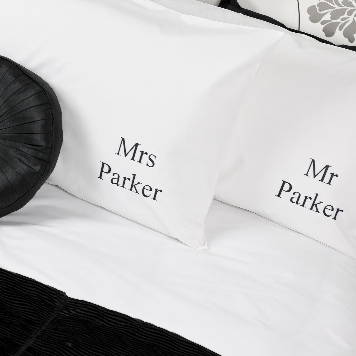 Personalised Mr and Mrs Wedding Pillowcases - Andrea Fays