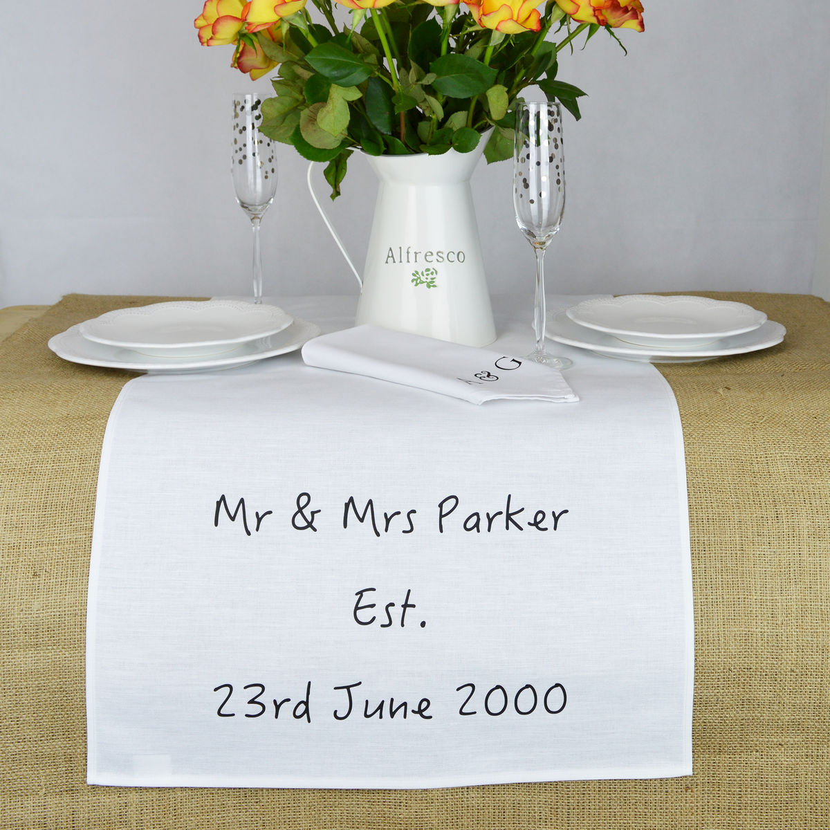 Personalised Wedding Table Runner - product image