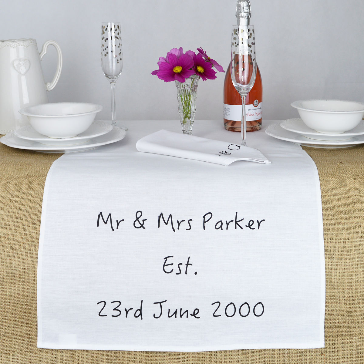 Personalised Wedding Table Runner - product images  of