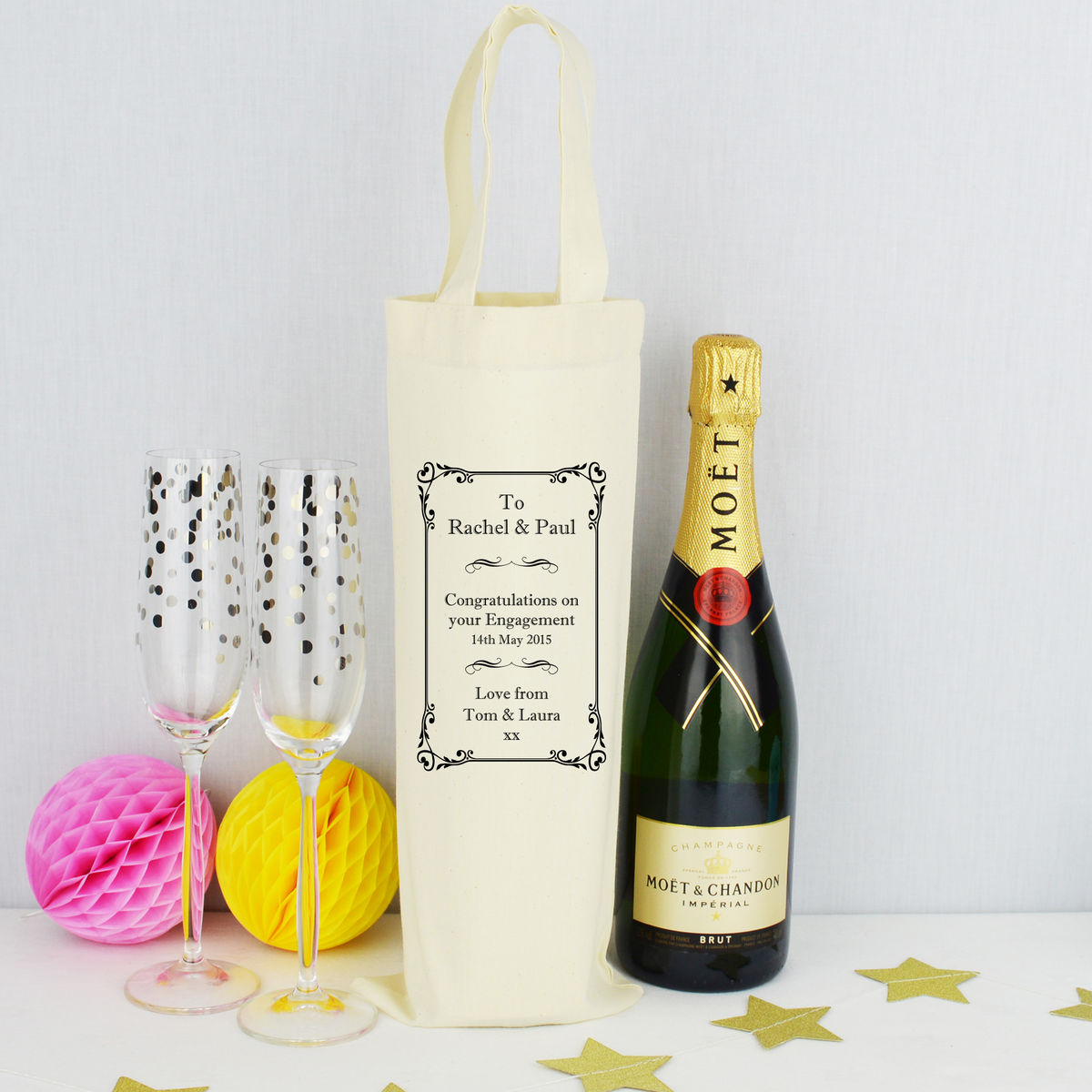 Personalised Bottle Bag - product image