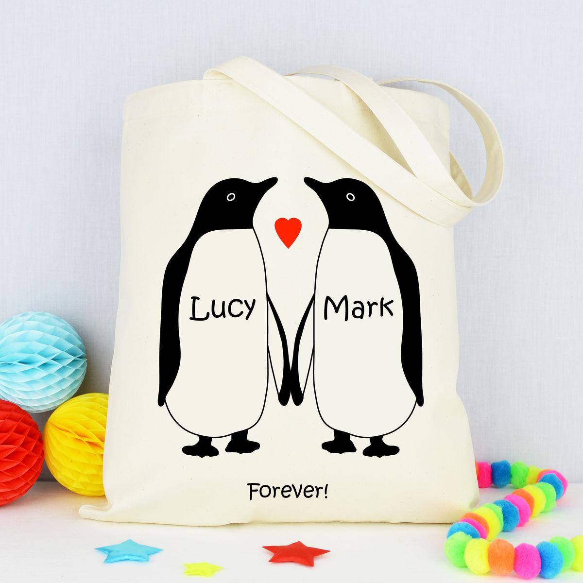 Personalised Penguin Bag - product image