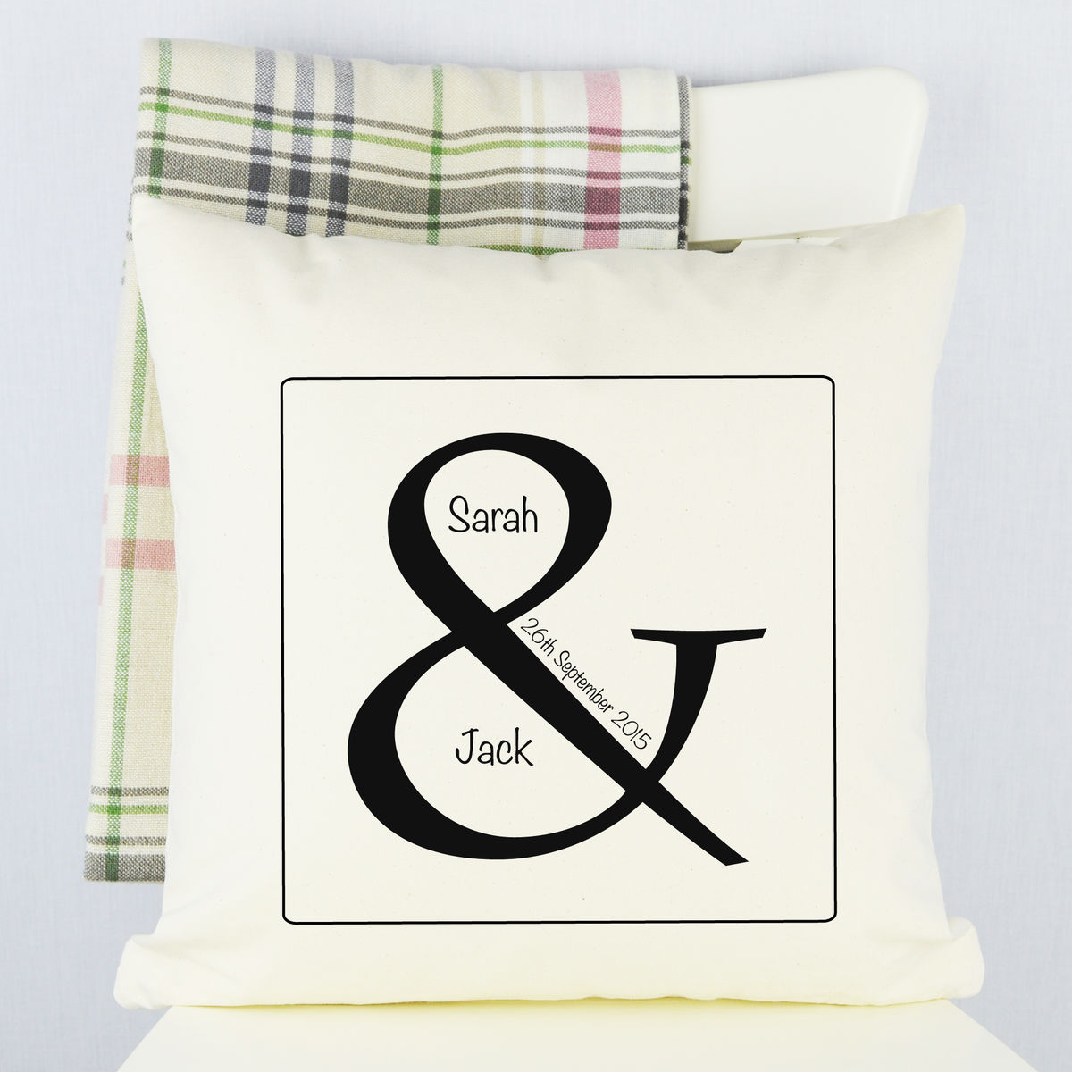 Personalised Ampersand Wedding Cushion - product image