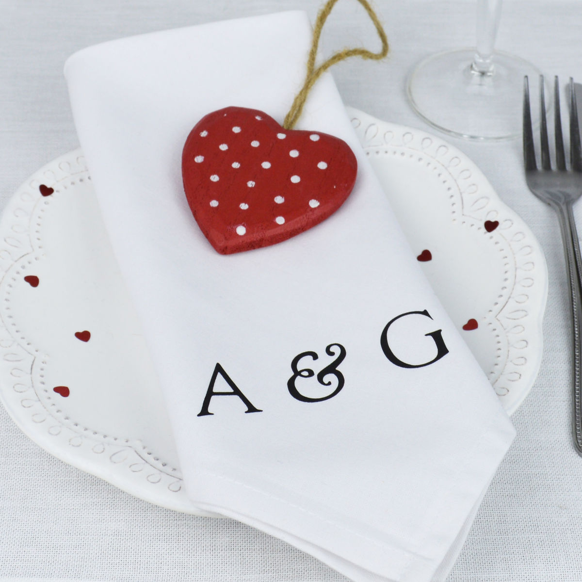 Pair Of Personalised 'Initial' Napkins - product image