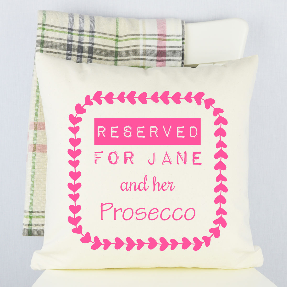 Personalised Prosecco Cushion - product images  of