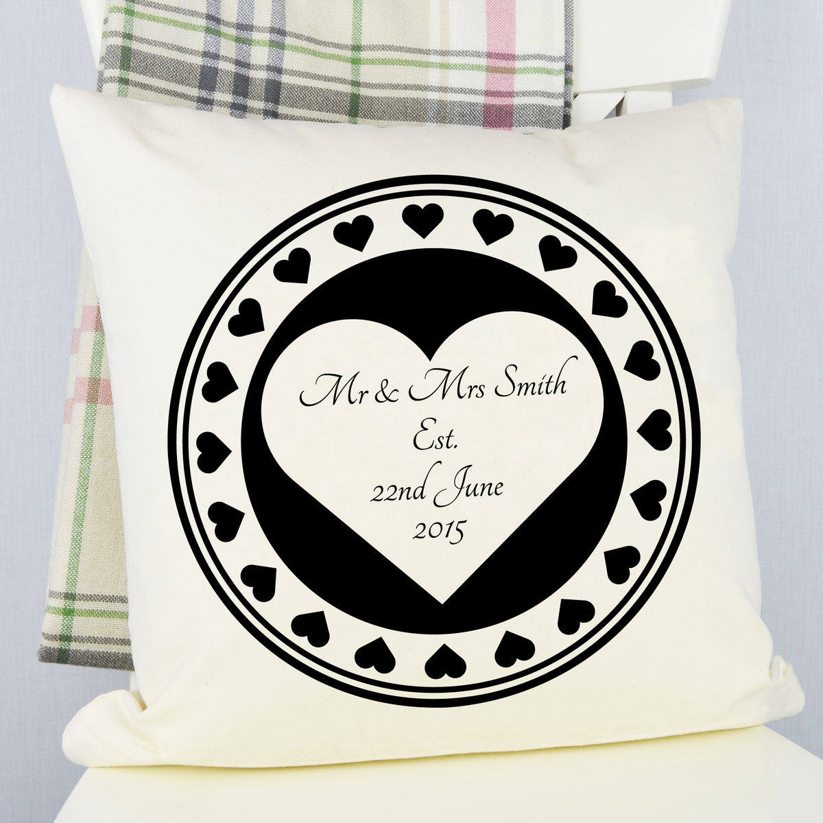 Personalised Heart Wedding Cushion - product images  of