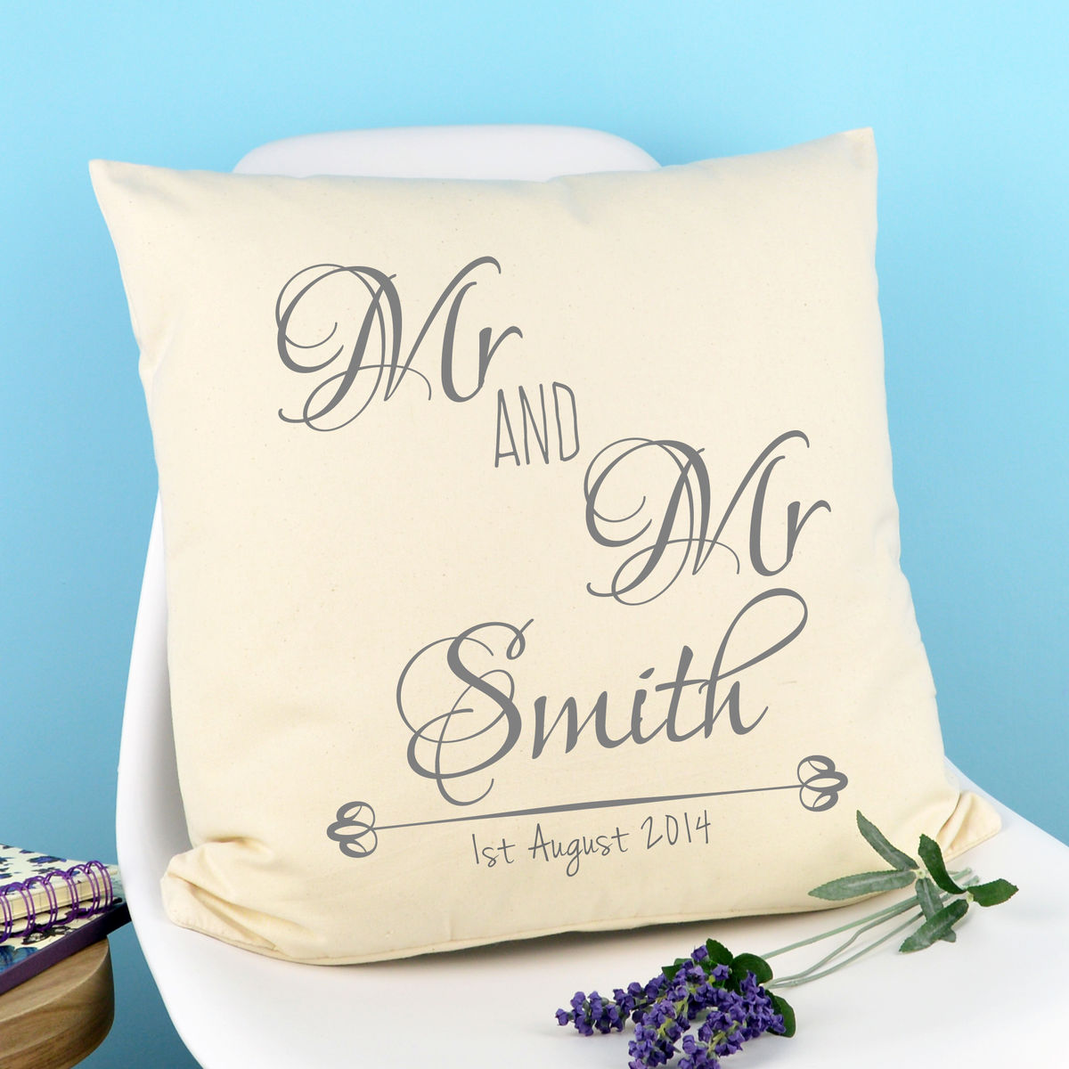 Personalised Mr & Mr Cushion - product image