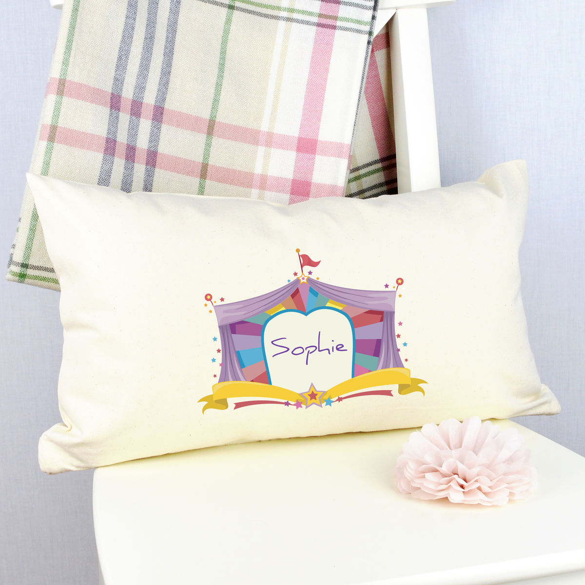 Personalised Circus Cushion - product image