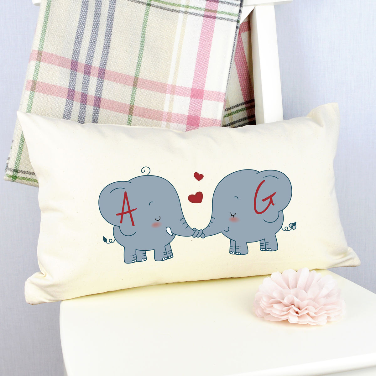 Personalised Elephant Cushion - product image