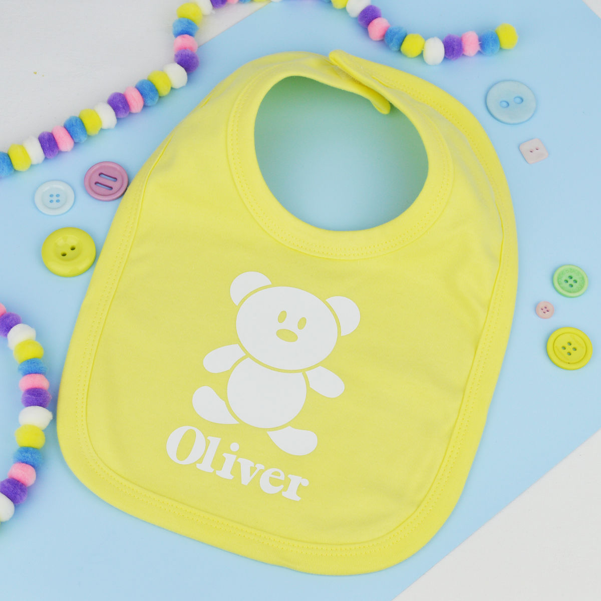Personalised Teddy Bear Bib - product image