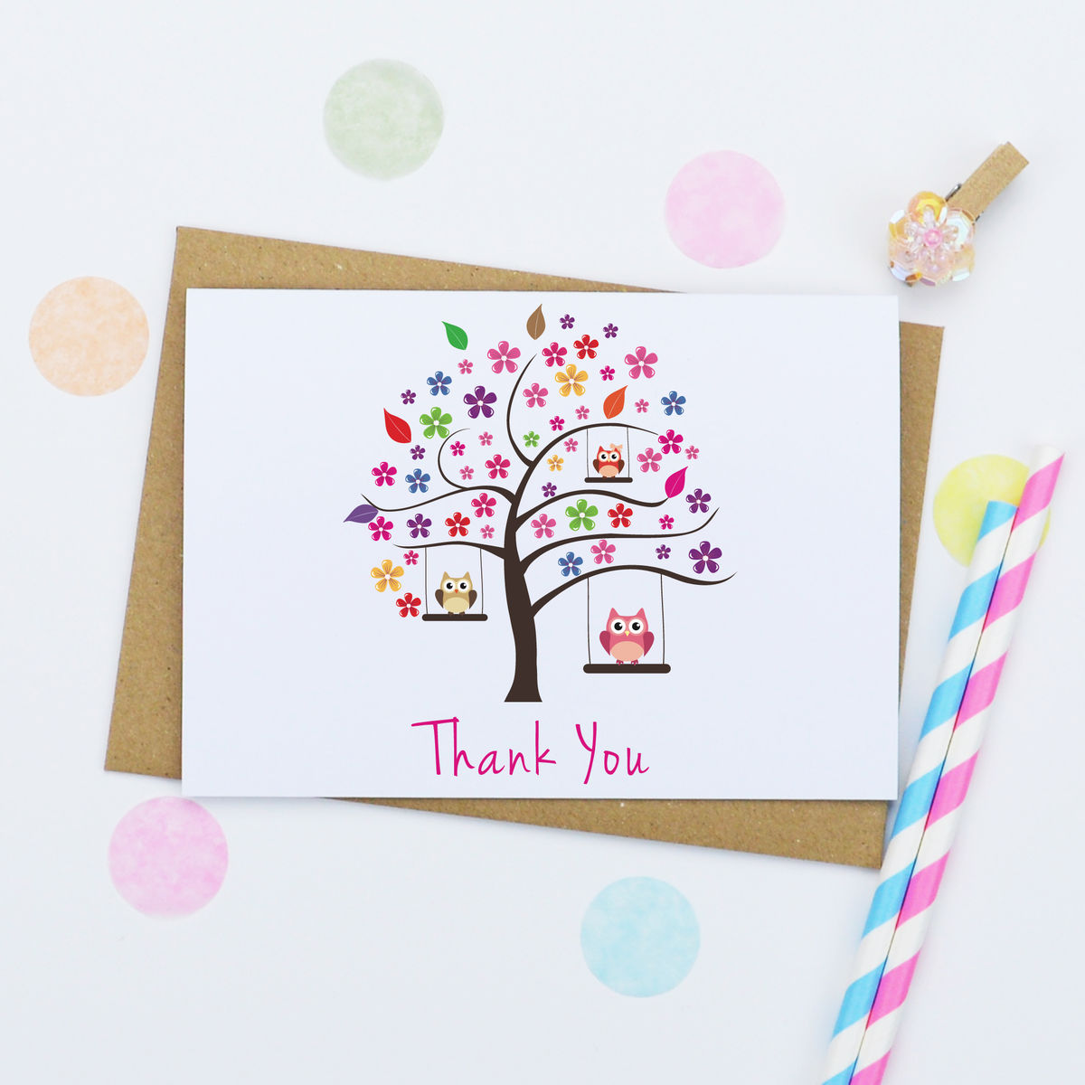 Pack Of Four 'Thank You' Cards - product images  of