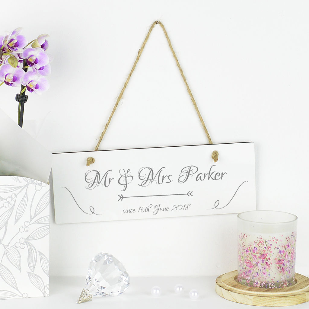 Personalised Mr And Mrs Anniversary Sign - product image