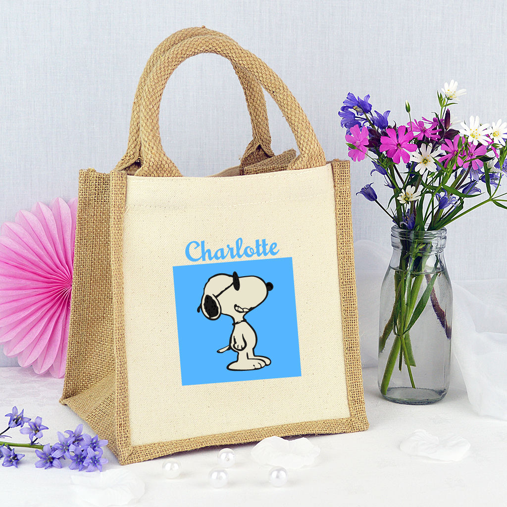 Personalised 'Snoopy Dog' Mini Tote Bag - product image