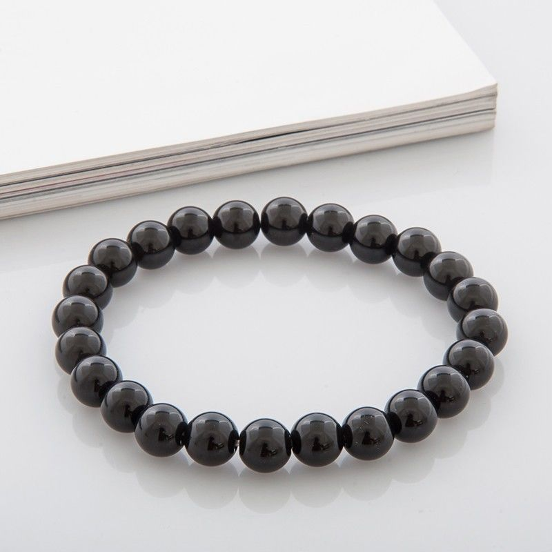 Black Onyx Bracelet, strength bracelet, energy bracelet, everyday bracelet, japa mala, Mala bracelet - product images  of
