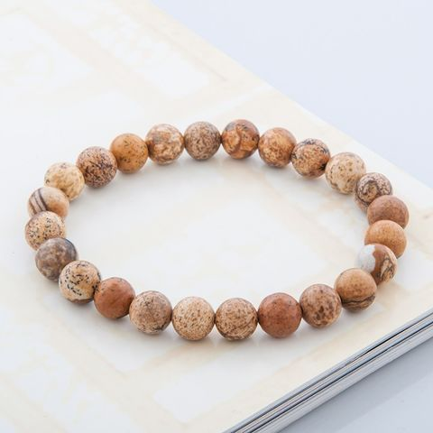 Picture,Jasper,Bracelet,,Love,bracelet,,energy,everyday,japa,mala,,Mala,bracelet,Picture Jasper Bracelet,love, energy bracelet, everyday bracelet, japa mala, Mala bracelet, prayer beads, 108 beads,