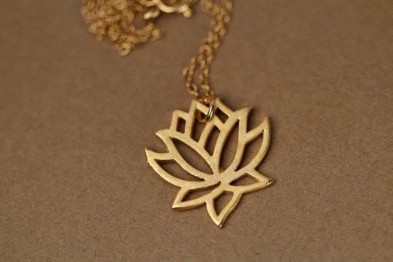 Lotus Chrarm Necklace yoga everyday necklace - product images  of