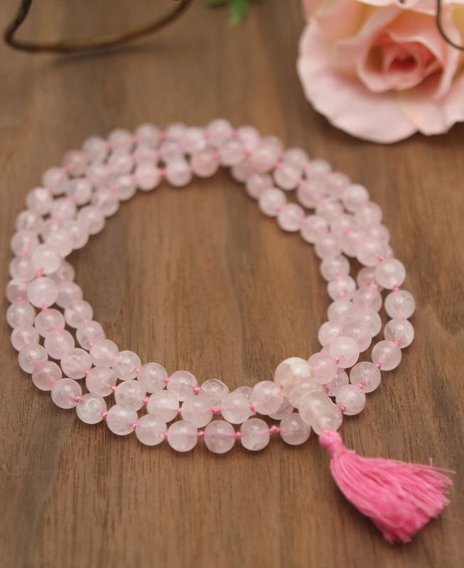 Rose Quartz mala 108 beads - product image