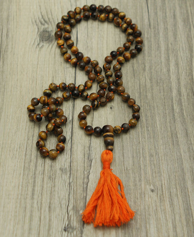 Tiger eye japa mala 108 bead - product image