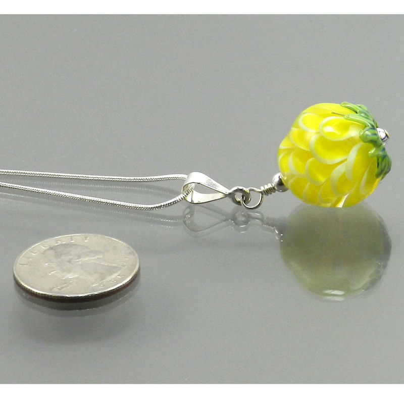 Petal Bead Necklace in Yellow - product images  of