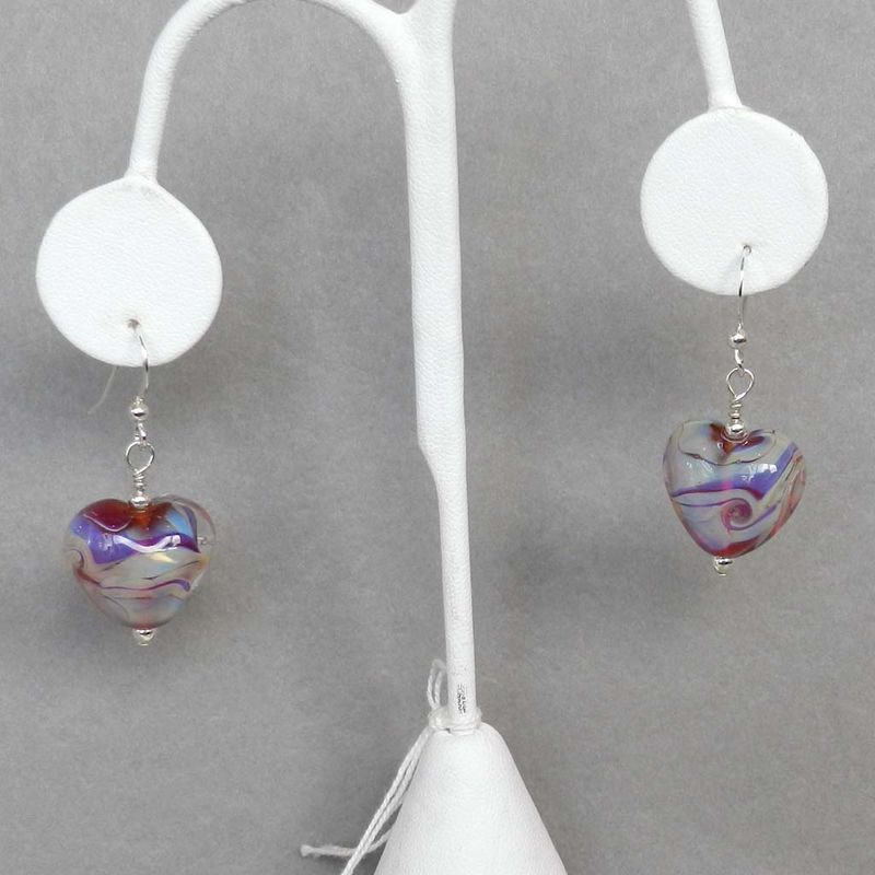 Pink Heart Earrings - product images  of