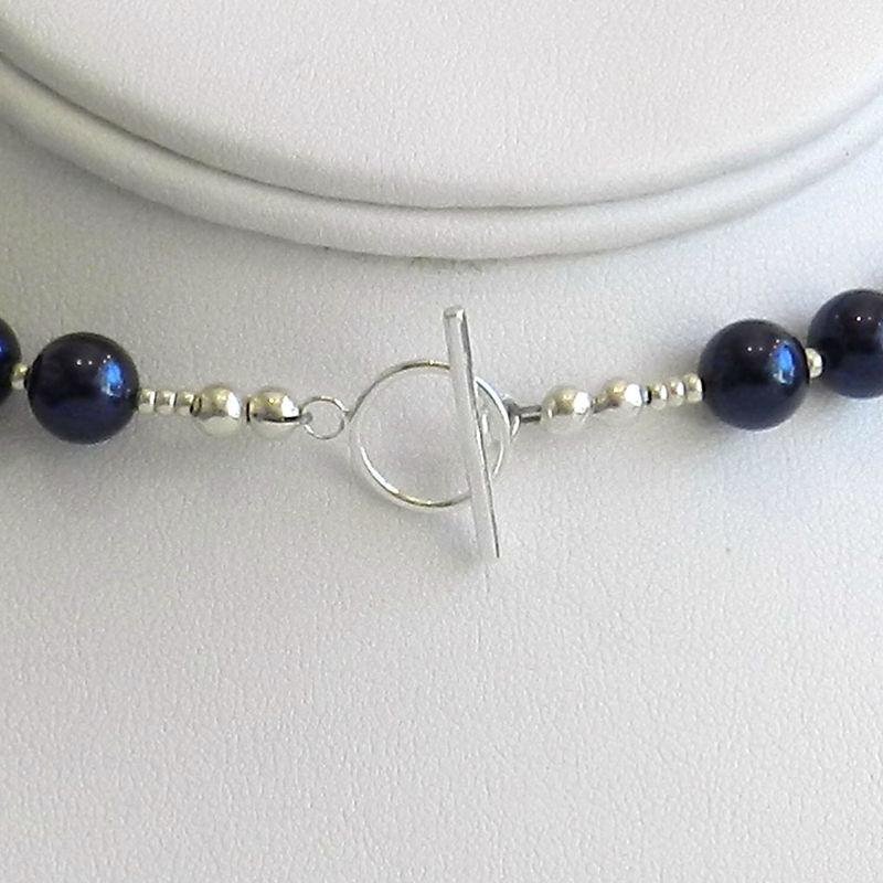 Blue Crystal Pearl Necklace - product images  of