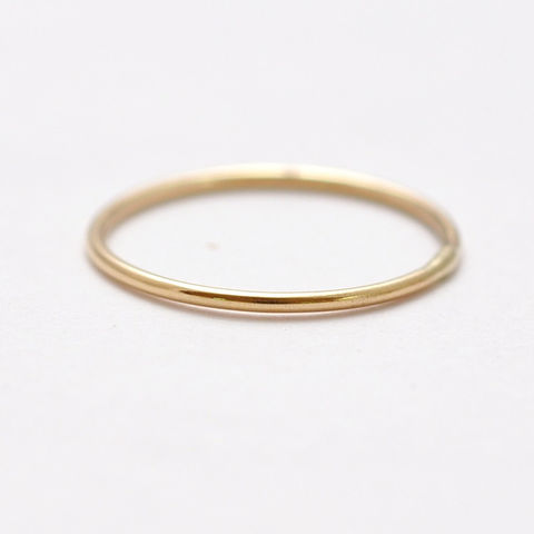 14K,Thin,Yellow,Gold,Band,Tiny Thin Delicate Slim Simple 14K Yellow Gold Inexpensive Cheap Affordable Womens Wedding Rings Bands