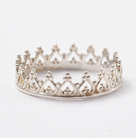 Silver,Crown,Ring,925 Sterling Silver Princess Tiara Crown Sweet 16 Birthday Ring Jewelry Gift Ideas for Teen Teenage Girls