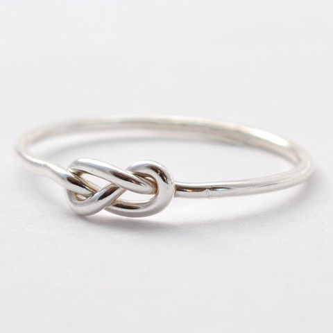 Sterling,Silver,Infinity,Knot,Ring,Simple Infinity Eternity Knot 925 Sterling Silver Friendship Best Friends Stackable Promise Ring Jewelry Gifts for Friends Girlfriends