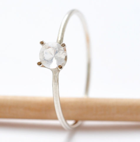 4mm,Opal,Promise,Ring,Beautiful Simple Prong Set Opal and 925 Sterling Silver October Birthstone Promise Ring Jewelry