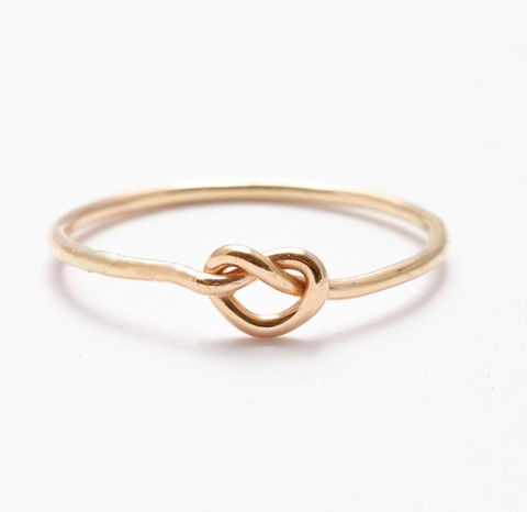 Gold,Filled,Knot,Ring,Handmade Etsy Tie the Knot Friendship Best Friends BFF Memory Eternity 14K Yellow Gold Filled Promise Ring Bridal Bridesmaid Gift Ideas Jewelry