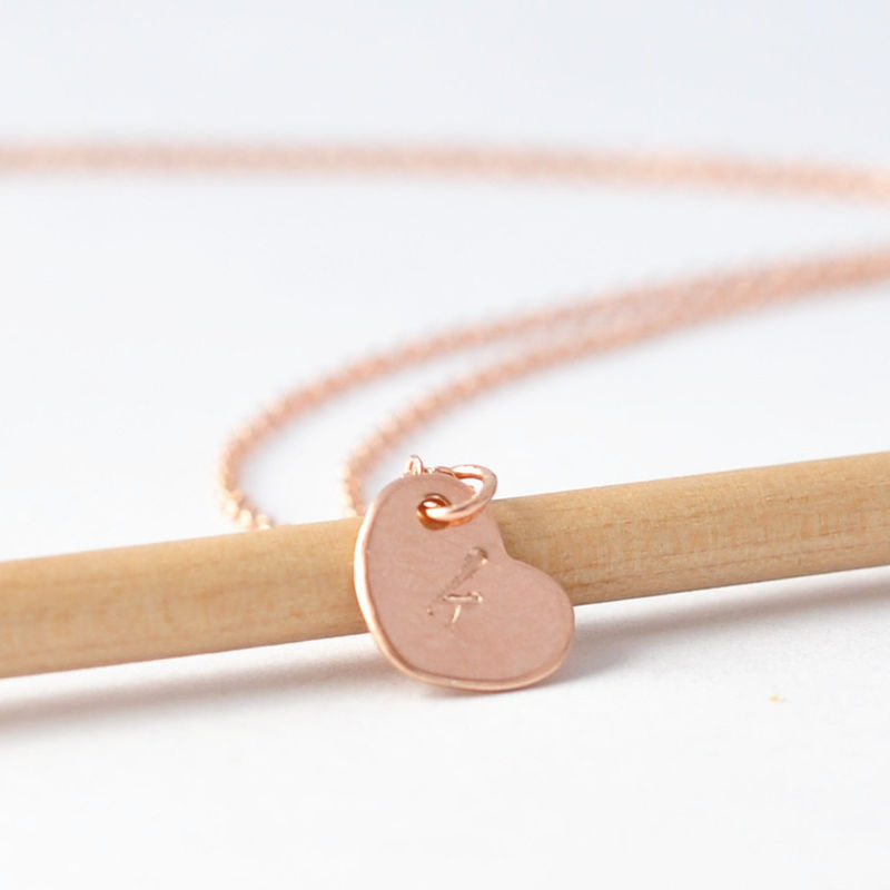 Heart Initial Necklace - product images  of
