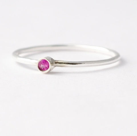 Ruby,Ring,Simple Thin Tiny Solitaire Natural Genuine Real Ruby 925 Sterling Silver July Birthstone Stacking Ring Jewelry Birthday Gift Ideas for Women