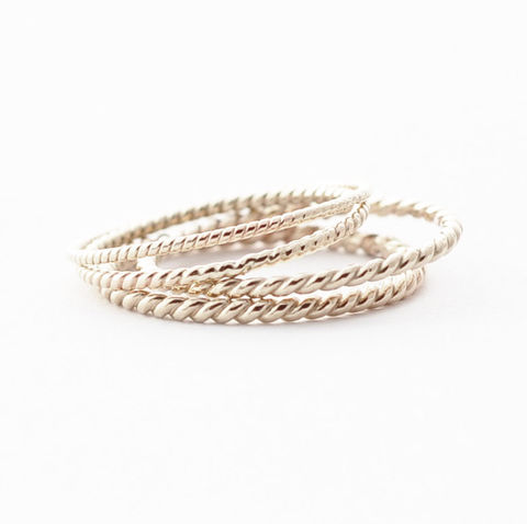 White,Gold,Wedding,Bands:,18K,Twist,Simple Dainty Unique Thin Classic Braided Twist Rope 18K White Gold Wedding Band Ring for Her